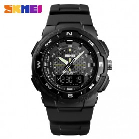 SKMEI Jam Tangan Analog Digital Pria - 1454 - Black/Black