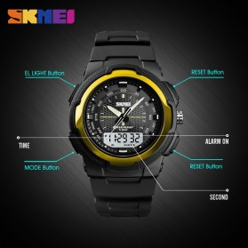SKMEI Jam Tangan Analog Digital Pria - 1454 - Black/Black - 5