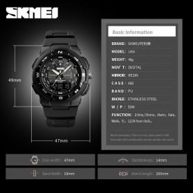 SKMEI Jam Tangan Analog Digital Pria - 1454 - Black/Black - 6