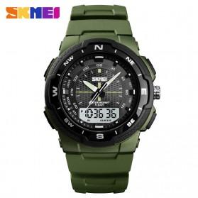SKMEI Jam Tangan Analog Digital Pria - 1454 - Army Green