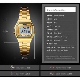 SKMEI Jam Tangan Digital Fashion Wanita - 1415 - Golden - 2