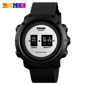 SKMEI Jam Tangan Analog Pria ABS Ring - 1486 - Black White