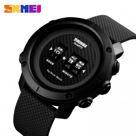 SKMEI Jam Tangan Analog Pria ABS Ring - 1486 - Black/Black - 2