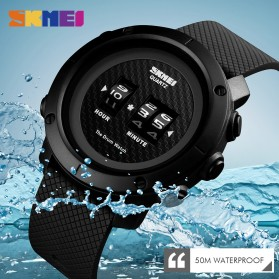 SKMEI Jam Tangan Analog Pria ABS Ring - 1486 - Black/Black - 5
