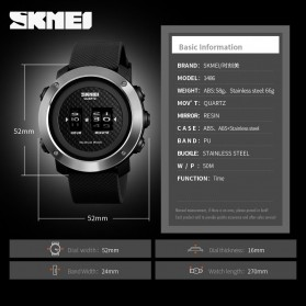 SKMEI Jam Tangan Analog Pria ABS Ring - 1486 - Black/Black - 6