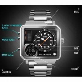 SKMEI Jam Tangan Analog Digital Modern Pria - 1392 - Silver - 5