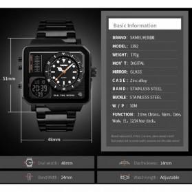 SKMEI Jam Tangan Analog Digital Modern Pria - 1392 - Black - 2
