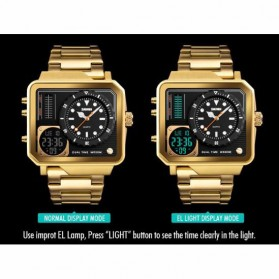 SKMEI Jam Tangan Analog Digital Modern Pria - 1392 - Golden - 6