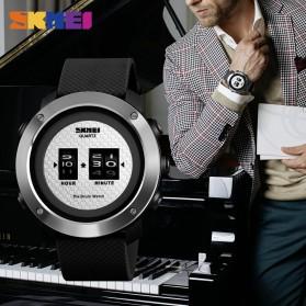SKMEI Jam Tangan Analog Pria Stainless Steel Ring - 1486 - Black/Silver - 3