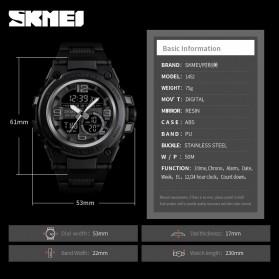SKMEI Jam Tangan Analog Digital Pria - 1452 - Black - 6