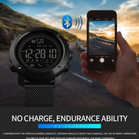 SKMEI Jam Tangan Olahraga Smartwatch Bluetooth - 1462 - Black - 10