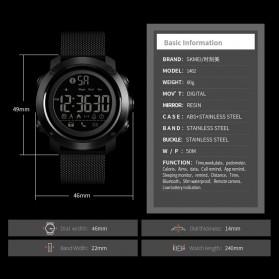 SKMEI Jam Tangan Olahraga Smartwatch Bluetooth - 1462 - Black - 6
