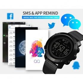 SKMEI Jam Tangan Olahraga Smartwatch Bluetooth - 1462 - Black - 8