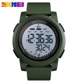 SKMEI Jam Tangan Digital Adventure Pria - 1469 - White/Green