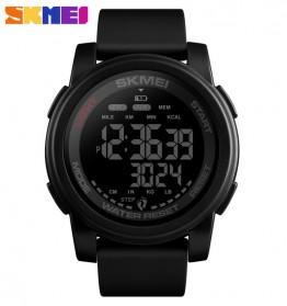 SKMEI Jam Tangan Digital Adventure Pria - 1469 - Black/Black