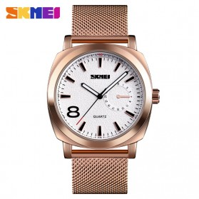 SKMEI Jam Tangan Analog Pria Strap Stainless Steel - 1466 - Rose Gold