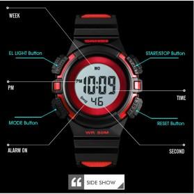 SKMEI Jam Tangan Sporty Anak Waterproof LED Digital - 1485 - Black - 7