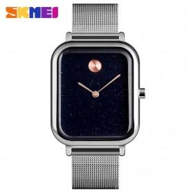 SKMEI Jam Tangan Analog Pria Strap Stainless Steel - 9187 - Silver