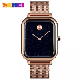 SKMEI Jam Tangan Analog Pria Strap Stainless Steel - 9187 - Rose Gold