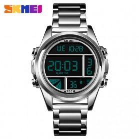 SKMEI Jam Tangan Premium Digital Analog Pria - 1448 - Silver