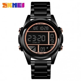 SKMEI Jam Tangan Premium Digital Analog Pria - 1448 - Black/Rose