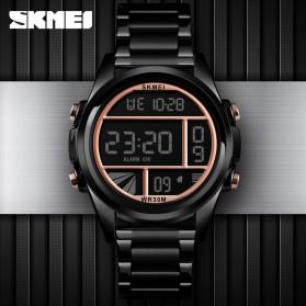 SKMEI Jam Tangan Premium Digital Analog Pria - 1448 - Black/Rose - 2