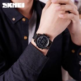 SKMEI Jam Tangan Premium Digital Analog Pria - 1448 - Black/Rose - 6