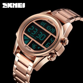 SKMEI Jam Tangan Premium Digital Analog Pria - 1448 - Golden - 4