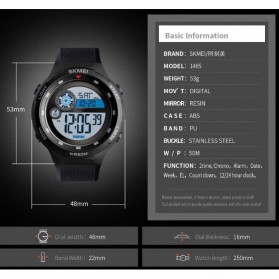 SKMEI Jam Tangan Digital Outdoor Pria - 1465 - Black - 2