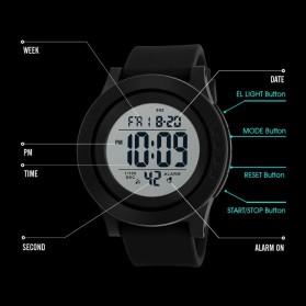 SKMEI Jam Tangan Digital Pria - 1473 - Black White - 4