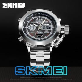 SKMEI Jam Tangan Analog Chrono Pria Stainless Steel Strap - 1515 - Silver - 2
