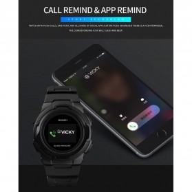 SKMEI Jam Tangan Olahraga Heartrate Smartwatch Bluetooth - 1438 - Black - 10