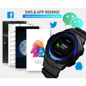 SKMEI Jam Tangan Olahraga Heartrate Smartwatch Bluetooth - 1438 - Black - 11