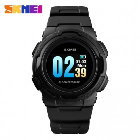SKMEI Jam Tangan Olahraga Heartrate Smartwatch Bluetooth - 1438 - Black