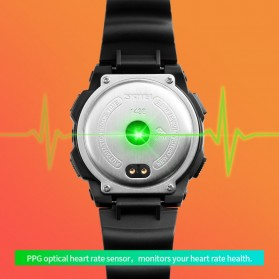 SKMEI Jam Tangan Olahraga Heartrate Smartwatch Bluetooth - 1438 - Black - 6