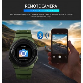 SKMEI Jam Tangan Olahraga Heartrate Smartwatch Bluetooth - 1438 - Blue - 12