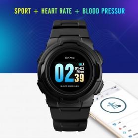 SKMEI Jam Tangan Olahraga Heartrate Smartwatch Bluetooth - 1438 - Blue - 3