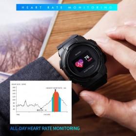 SKMEI Jam Tangan Olahraga Heartrate Smartwatch Bluetooth - 1438 - Blue - 4