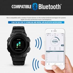 SKMEI Jam Tangan Olahraga Heartrate Smartwatch Bluetooth - 1438 - Blue - 5