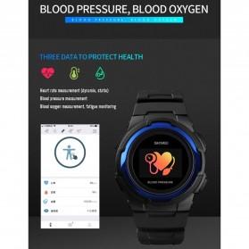 SKMEI Jam Tangan Olahraga Heartrate Smartwatch Bluetooth - 1438 - Blue - 7