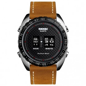 SKMEI Jam Tangan Analog Pria - 1516 - Black/Brown