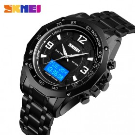 SKMEI Jam Tangan Digital Analog Pria - 1504 - Black