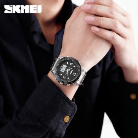 SKMEI Jam Tangan Digital Analog Pria - 1504 - Black - 3