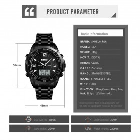 SKMEI Jam Tangan Digital Analog Pria - 1504 - Black - 5