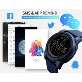 SKMEI Jam Tangan Olahraga Smartwatch Bluetooth - 1442 - Blue - 9