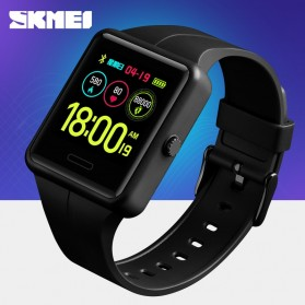 SKMEI Jam Tangan Olahraga Heartrate Smartwatch Bluetooth - 1525 - Black - 2