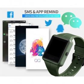 SKMEI Jam Tangan Olahraga Heartrate Smartwatch Bluetooth - 1525 - Army Green - 10