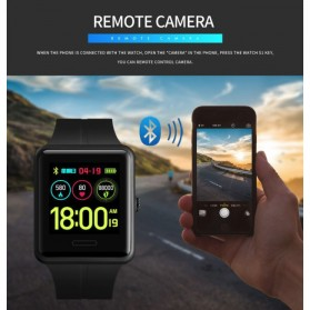 SKMEI Jam Tangan Olahraga Heartrate Smartwatch Bluetooth - 1525 - Army Green - 13