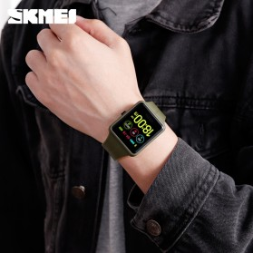 SKMEI Jam Tangan Olahraga Heartrate Smartwatch Bluetooth - 1525 - Army Green - 5