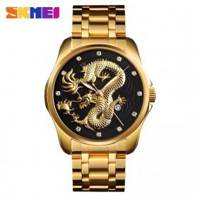 SKMEI Jam Tangan Analog Pria - 9193 - Black Gold
